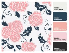 For a little girls room!   Paint colors from Chip It! by Sherwin-Williams