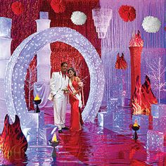 Fire And Ice Theme Decorations   fire and ice theme party image search results.I like the arch!