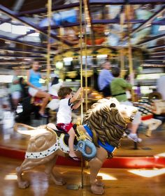 The Carousel in Coolidge Park, Chattanooga, TN  Great place for the whole family to ride!