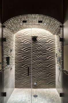 LED lighting Idea for shower interiors | Bathrooms & Vanity | Cirrus Wall Grazer - by Edge Lighting