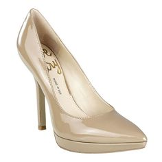 """As seen in the pages of InStyle, Essence, Glamour  Weight Watchers magazines....the Love Fury pump was designed with a woman's obsession for shoes in mind.  Pointy toe platform pump with all leather upper.  4.5"""" heel and 3/4"""" platform. Found exclusively at ninewest.com"""
