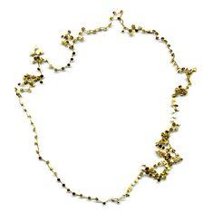 MARTA BOAN-ES jewells - doble cyclical pattern 12 gold 18 k 40 cm + 42 cm length 2008