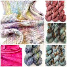 Some newbies added to the shop Yarn Shop, Hand Dyed Yarn, Crochet Projects, Knit Crochet, Stitch, Knitting, Pretty, Kitchen, Beautiful