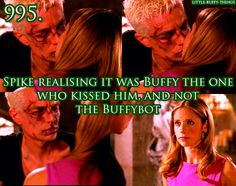 Buffy and Spike from Buffy the Vampire Slayer. Spike Buffy, Buffy The Vampire Slayer, Joss Whedon, Angel Show, Buffy Summers, Sarah Michelle Gellar, Alyson Hannigan, Kissing Him, Neil Patrick Harris