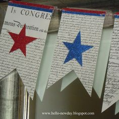 4th of July Banner Tutorial with Printable