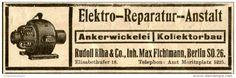 Original-Werbung/ Anzeige 1912 - ANKERWICKLEREI / KOLLEKTORBAU / RUDOLF RIHA - MAX FICHTMANN - ca. 100 x 30 mm