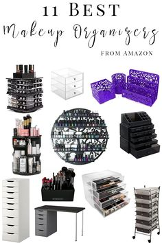 11 Best Makeup Organizers to Buy on Amazon - Looking for the best way to organize your makeup? I share how I organize my makeup, the best storage solutions and include affordable options for all budgets!