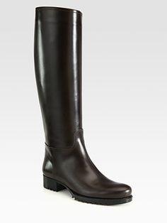 #Bottega Veneta Flat Knee-High #Riding boots, Timeless style