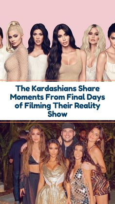 The Kardashians Share Moments From Final Days of Filming It's the end of an era. The Kardashians are finishing filming their show Keeping Up With the Kardashians after 14 years. #celebrity #kardashians #news #kanyewest