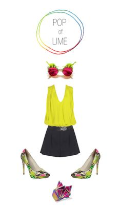 """POP of LIME"" by alice-olivia-stacey-bendet on Polyvore"