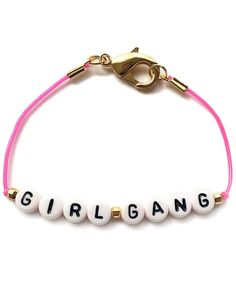 Girl Gang Bracelet | Valentine's Day isn't just meant for your significant other—show your closest friends you love them with these fun ideas.
