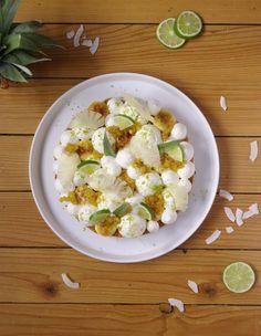 Un Fantastik exotik autour de l'ananas, du citron vert et de la noix de coco. Une composition gourmande et qui est facile à réaliser.