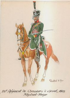 French; 25th Chasseurs a Cheval, Adjutant-Major, 1805
