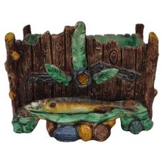 Check out this item at One Kings Lane! Majolica Palissy Fish Jardiniere