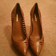 Toffee pumps Laser cut out Brand New BCBGENRATION pumps BCBGeneration Shoes Heels