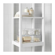 GODMORGON Box with lid, set of 5 IKEA Helps you organize your jewelry, makeup and bottles.