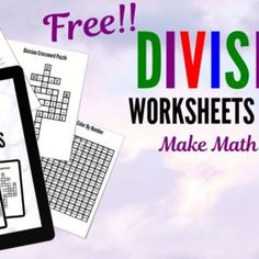 Just Arrived! Kid Tested Division Worksheets that Make Math Fun Division Flash Cards, Math Flash Cards, Division Games, Kindergarten Math, Math Math, Fun Math Games, Math Help, Math Practices, Education Humor