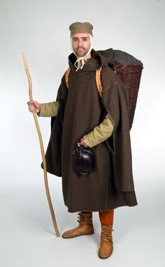 A warm weather protection jacket of the High Middle Ages with natural colored linen thread sewn u enclosed Renaissance Costume, Medieval Costume, Medieval Fashion, Medieval Clothing, Historical Costume, Historical Clothing, Middle Ages Clothing, Armor Clothing, Period Outfit