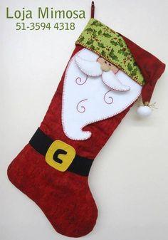 Baby Christmas Stocking, Santa Stocking, Felt Stocking, Christmas Sewing, Felt Christmas, Christmas Projects, Homemade Christmas Decorations, Xmas Decorations, Holiday Crafts
