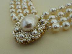 Vintage Miriam Haskell Baroque Pearl Set