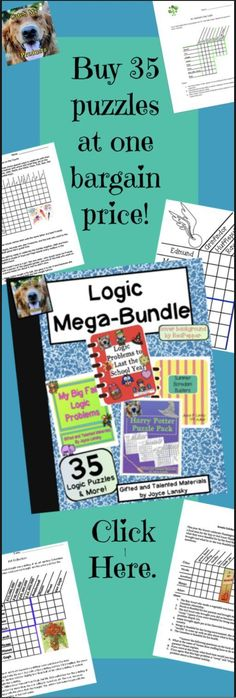 Logic Puzzles to challenge and engage your gifted students.