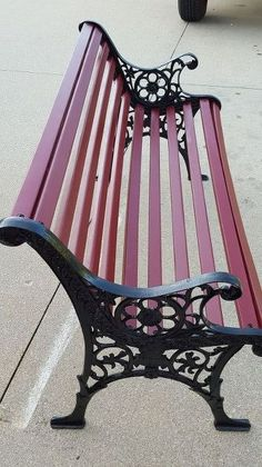 giving a sad worn out park bench new life, painted furniture, repurposing upcycling