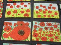 poppy art for Anzac Day