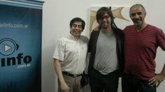 Con Santi Siri y Gustavo Guzman