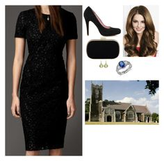 """Attending a service at the Church of St. Mary Magdalene, where Jacques III's body now lays in state"" by fashion-royalty ❤ liked on Polyvore featuring Burberry, Anya Hindmarch, Blue Nile and Asprey"