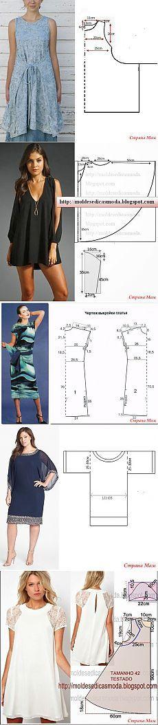 Patrones interesantes y patrones simples - 3 (túnicas y vestidos) - Costura - Mujer Mundo