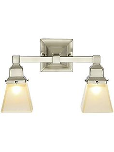 2 light version (for over the med cabinet)  satin nickely $299