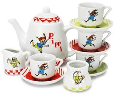 Pippi Longstocking coffee set