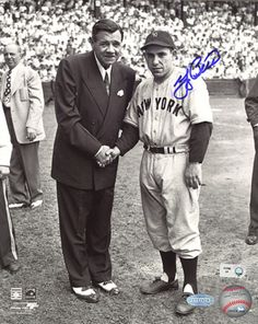 Yogi Berra Autographed With Babe Ruth