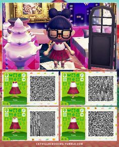 A wide choice of qr codes for Animal Crossing New Leaf and Happy Home Designer Animal Crossing 3ds, Animal Crossing Qr Codes Clothes, Ac New Leaf, Folk, Happy Home Designer, All About Animals, A Line Mini Skirt, Leaf Design, Funny Cute