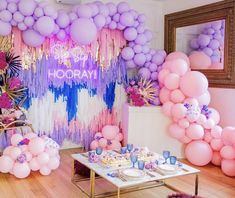 Quinceanera Party Planning – 5 Secrets For Having The Best Mexican Birthday Party Balloon Garland, Balloon Decorations, Birthday Party Themes, Girl Birthday, Gateau Baby Shower, Neon Led, A Little Party, Quinceanera Party, Quinceanera Decorations