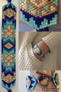 Braccialetto di ispirazione a nuances de bleu et o #fashion #faitmain #miyuk ... #bleu #Braccialetto #De #di #faitmain #fashion #ispirazione #miyuk #nuances