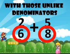 Mario Adding Fractions Song. This is a fun video to recap what was learned about adding fractions.