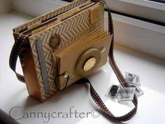 cannycrafter: Camera mini album cuteness! My next hybrid project for sure!!