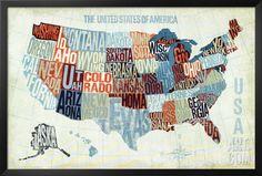 USA Modern Blue, by Michael Mullan