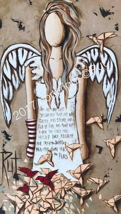 Riette Delport (Rut) Angel Pictures, Art Pictures, Angel Art, Bible Art, Whimsical Art, Painting For Kids, Christmas Angels, Cool Artwork, Folk Art