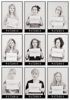 Take mugshots the morning after the bachelorette party! Such a cute idea. ;)