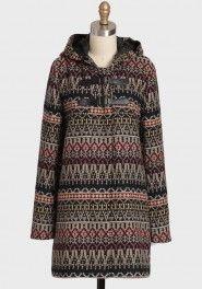 Definitely want this:  Marty hooded-coat by BB Dakota