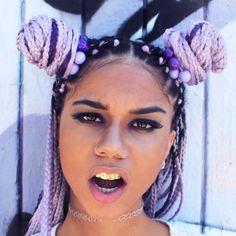 lavender braids, lillac braids, colorful box braids, purple box braids, afro, afro hairstyle, afro hair, black girl