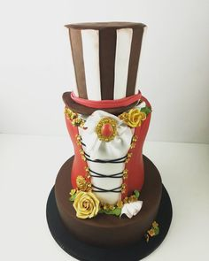 """Finally I got an opportunity to make a steam punk theme wedding cake and had so much fun making…"""" Themed Wedding Cakes, Steam Punk, Opportunity, How To Make, Fun, Steampunk, Funny, Hilarious"""