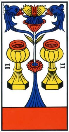 Two of Cups - Marseille Tarot