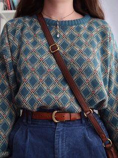 Damen Vintage Strickpullover - ideas for women style Moda Vintage, Vintage Mode, Style Vintage, Vintage Ladies, Fashion Vintage, Shabby Vintage, Vintage Looks, Retro Vintage, Shabby Chic