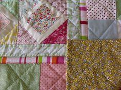 modern handmade patchwork quilt baby quilt girls patchwork quilt play mat wall hanging
