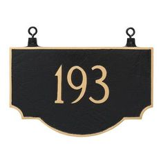 Montague Metal Products Vanderbilt Double Sided Hanging Address Plaque Finish: Swedish Iron/Silver