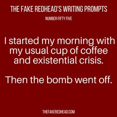 Writing Prompts – The Fake Redhead Writes