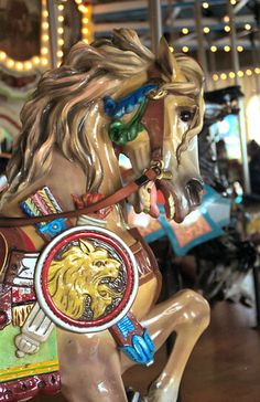 Kings Dominion Carousel PTC #44 Outside Row Stander Head Detail